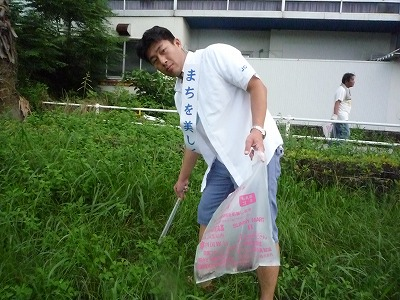 浦戸湾七河川一斉清掃