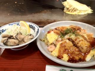広島焼き&牡蠣.JPG