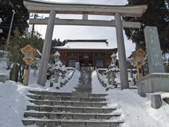 雪の武蔵御嶽神社