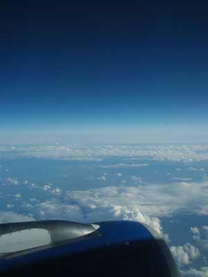 France行き飛行機からの空