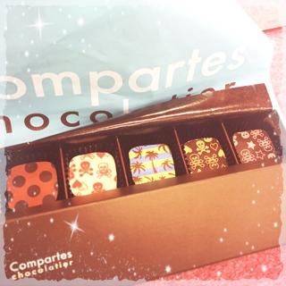 土曜日にYoshimiさんから頂いた可愛いチョコレート(^^) レッスン後に大変美味しく頂きました。有難うございました。