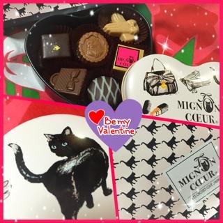 そして、夜ボリウッドのHiromiさんとNaokoさんからは、ネコをモチーフにした癒し系の可愛らしいチョコ(*^^*)