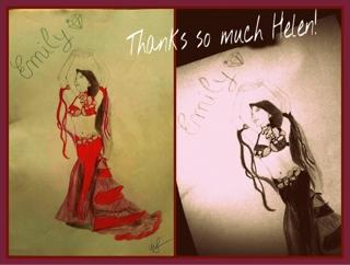 昨日、ナポリに住んでいる高校生のヘレンちゃんから絵のプレゼントを頂きました