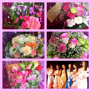 また、皆様より美しいお花を頂戴しとても嬉しかったです。祝福のお花を頂き幸せな気持ちです。有難うございました。2