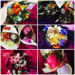 皆様から美しいお花や美味しいお菓子をたくさん頂戴致しました。 応援もして頂き、そしてたくさん祝福をして頂き心より幸せを感じております。