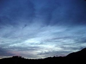 夕焼けの痕