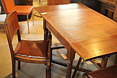 アンティーク ドローリーフテーブル チェア