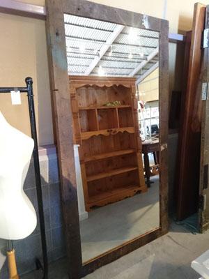 ミラー,鏡,アパレル,姿見,木製,什器