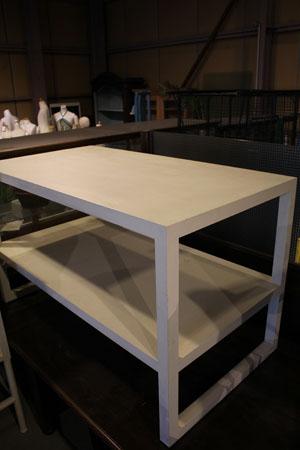 ラック 棚 テーブル ディスプレイ台 木製 什器 白