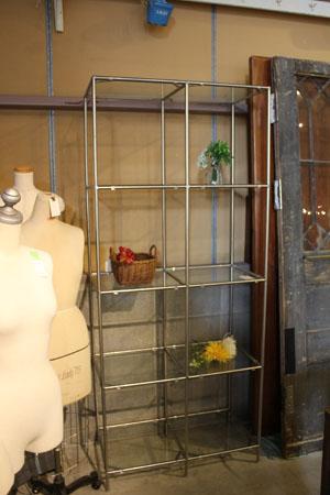 ラック 棚 ショーケース ガラス アパレル アイアン 什器