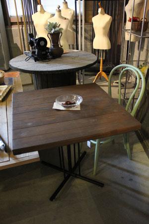 テーブル ディスプレイ台 アイアン 木製 什器