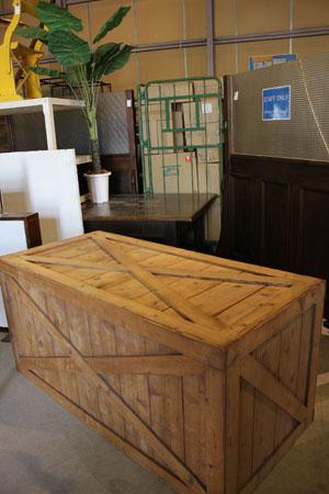 アパレル テーブル ディスプレイ台 木製 什器 箱