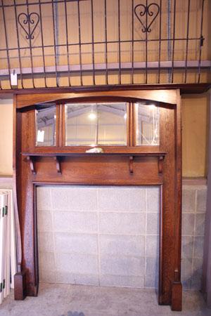 ディスプレイ台 アンティーク 木製 英国 マントルピース