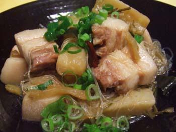 豚バラ肉と大根の昆布煮