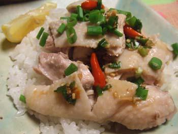 茹で鶏のチキンご飯のっけ カオマンガイ
