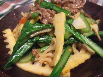 筍と牛肉の炒めもの