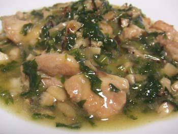 鶏肉とほうれん草の中華煮こみ
