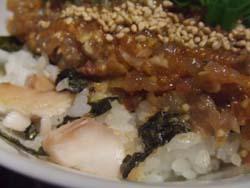 鯵のたたき、鯵の干物丼