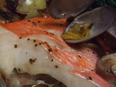 金目鯛のホイル包み焼き イタリアン