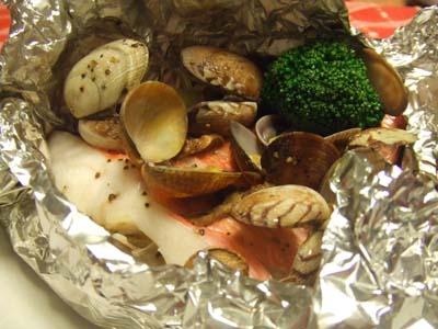金目鯛のホイル包み焼き イタリアンアクアパッツア風