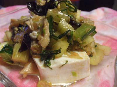 野菜と豆腐の四川風サラダ