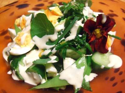 ナスタチュームのサラダ