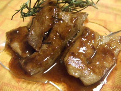 豚レバーのバルサミコ酢ソース