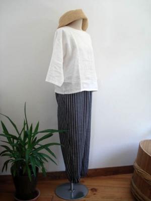 裾ゴムパンツ