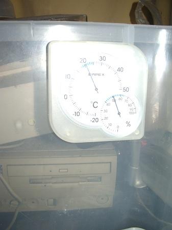 外出前の気温と湿度