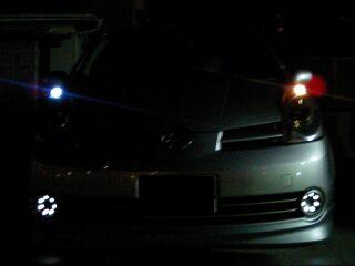 LEDポジションランプ 左右比較