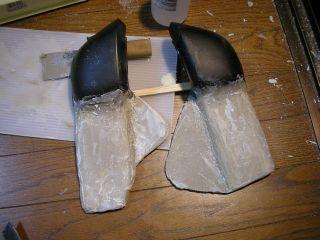 エアクリカバー原型その1(発泡ウレタン芯。しっぱい)