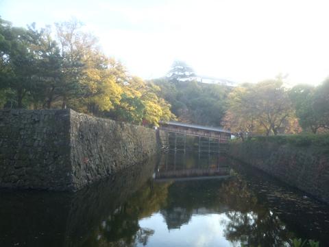 御橋廊下と和歌山城