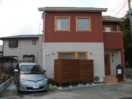 福岡・注文住宅 福岡市南区 木製サッシを使った床暖房のある家