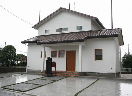 福岡・注文住宅 宮若市 内外壁漆喰採用・・・呼吸する家。