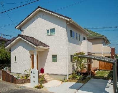 注文住宅 佐賀県三養基郡 アンティークブラウンの瓦の大人シックな住まい
