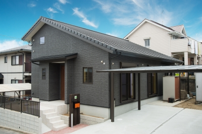 注文住宅 福岡県糟屋郡 勾配天井のある平屋の住まい