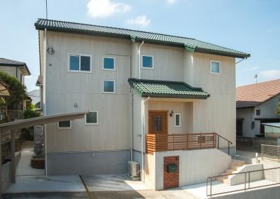 注文住宅 福岡市南区 省エネに暮らすグリーンカラーの住まい