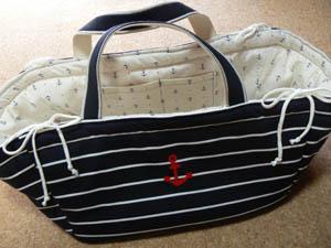 マリンなわんちゃりバッグ。