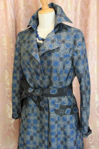大島紬の裄丈の短かった着物をリメイク
