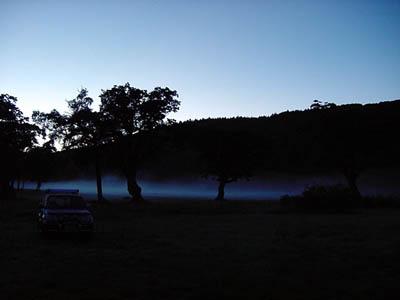木島平の朝靄
