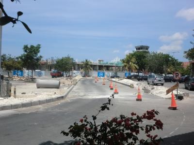 工事中のウングライ空港