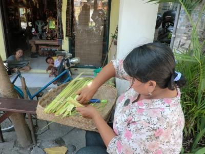 チャナンを作る女性1