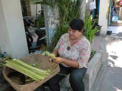 チャナンを作る女性2