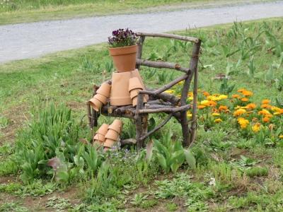 花の丘・鉢でアート