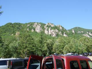 大日駐車場より親指岩方面