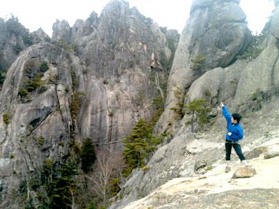 屋根岩2峰頂上付近