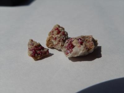 辰砂の結晶