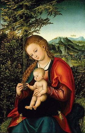 Lucas Cranach the Elder (1472-1553), Madonna and Child in a Landscape, circa 1518
