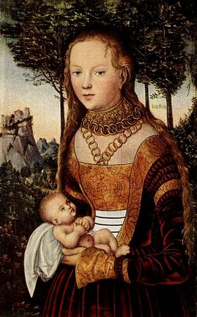 Young Mother with Child Private collection