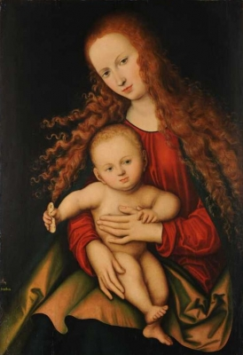 Lucas Cranach the Elder  The Virgin and Child holding a piece of bread 1529 Kunstmuseum Basel